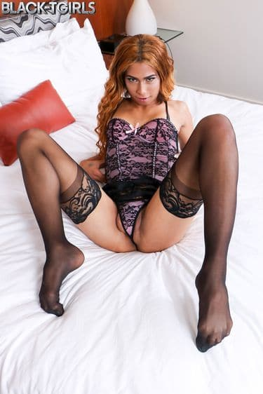 Watch Both of Candy's Free Trailers on black-tgirls.com